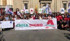 Comando Apruebo Chile Digno inició campaña para cambiar la Constitución: Llaman a votar por Convención Constitucional y marcar AC
