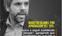 Ministro Blumel rechaza retiro del 10%